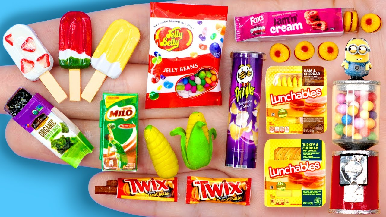 Download 36 EASY REALISTIC DIY MINIATURE BARBIE IDEAS ~ Mini MILO, Pingles, Candy Machine and more!