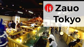 ZAUO RESTAURANT PECHER VOTRE DINER A SHINJUKU, TOKYO - FAIT AU JAPON