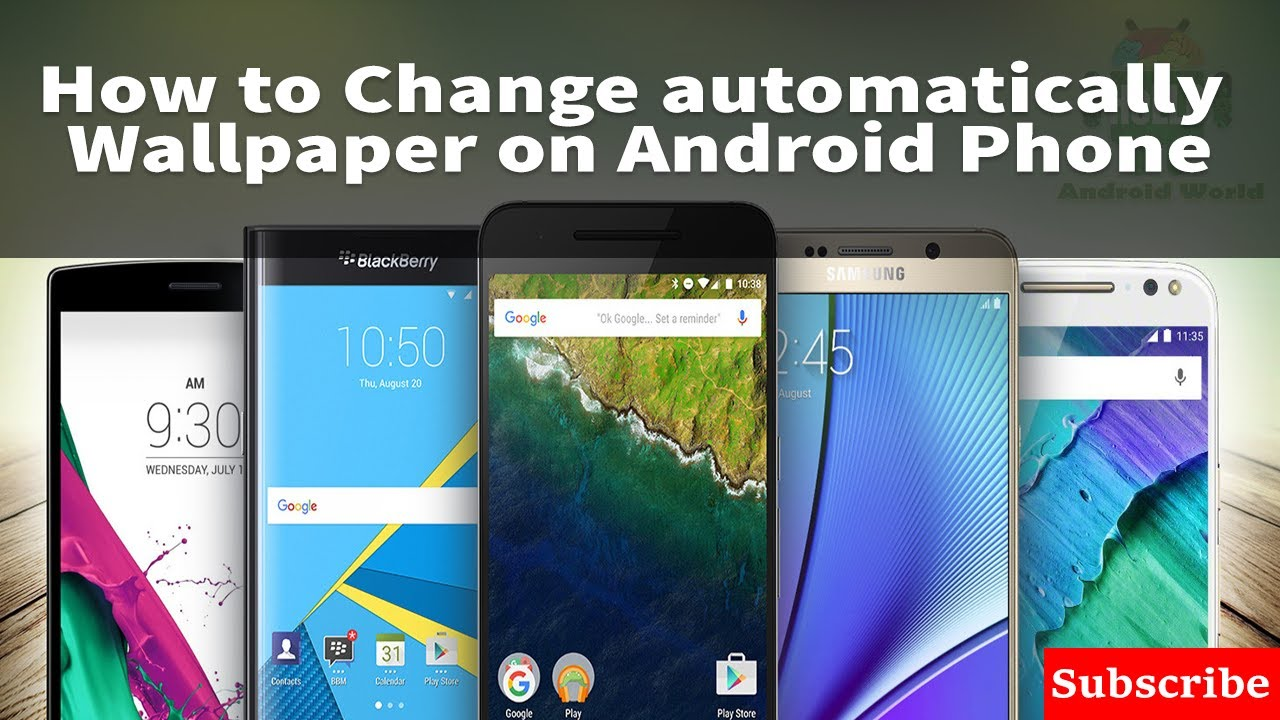 How to automatically change the wallpaper on android phone- android tips in