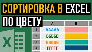 сортировка в Excel по цвету текста или ячейки