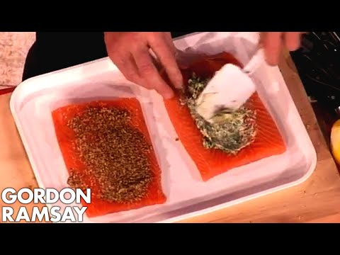 Assembling salmon en croute with Chef - Gordon Ramsay