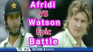 vuclip #Afridi#Watson Shahid Afridi vs Watson Epic Battle in Test Cricket.