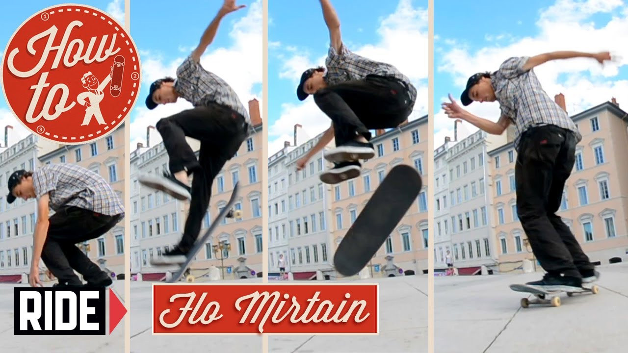 e729bf57785 How-To Skateboarding  Switch Laser Flip with Flo Mirtain - YouTube