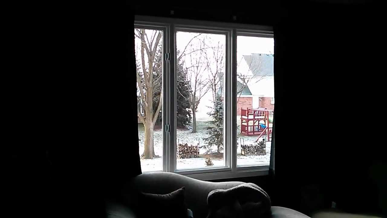 trying out my new motorized drapes - youtube