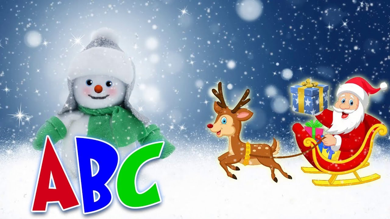 christmas songs for kids learning abc with santa and snowman abc for children learning videos - Santa And Snowman
