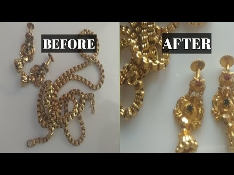 How to clean gold in home| gold chain cleaning in tamil