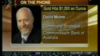 Gold Hits $1,000 An Ounce - Bloomberg