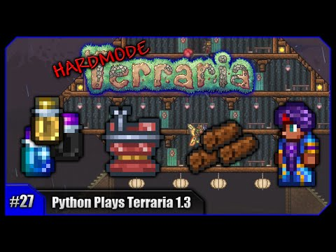 Python Plays Terraria || Gizmo Pack, House Building & Epic Dyes! || Terraria 1.3 PC Let's Play [#27]