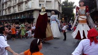 Cercavila de la Festa Major de Sabadell 2014 - Gegants, Balls de Bastons i Diables