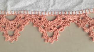 Bico de Crochê Perfeito para Pano de Prato Ou Toalhas