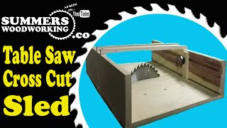 014 How To Make A Crosscut Sled W/ Zero Play Bars