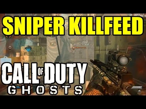 Play COD GHOSTS SNIPER KILLFEED   5 on screen, triple Headshot, quadfeed Headshot ...