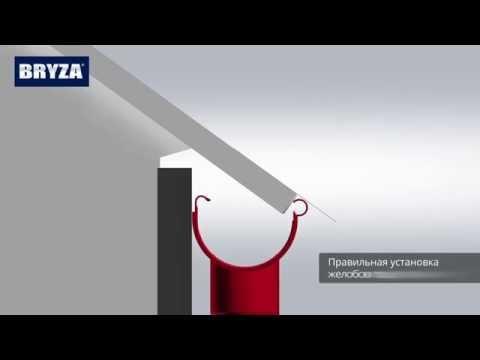 Монтаж водосточной системы Bryza