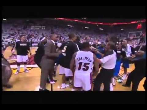 2011 Game 6 NBA Finals Fight Between Mavs and Heat!