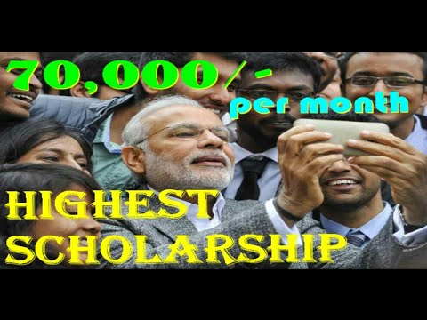 Scholarship by Central Government | 70000/- per month | From next session | 2018 | For PHD