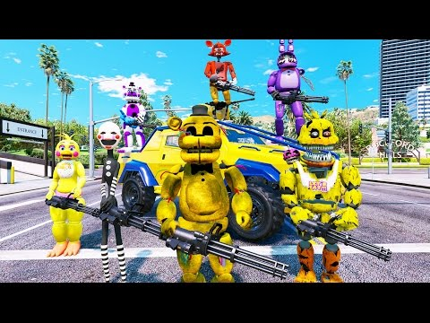 ULTIMATE ANIMATRONIC CRIME FIGHTING SQUAD! (GTA 5 Mods For Kids FNAF Funny Moments)