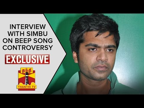 Exclusive Interview with Simbu About Beep Song Controversy - Thanthi TV
