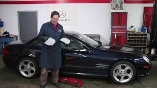Mercedes R230 SL500 Cabin Air Filter Location and Inspection