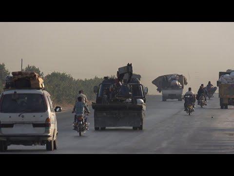 شاهد.. نزوح وضغط سكاني كبيرعلى المدن الحدودية  في إدلب ومناشدات لمساعدة النازحين - هنا سوريا  - 20:53-2019 / 9 / 17