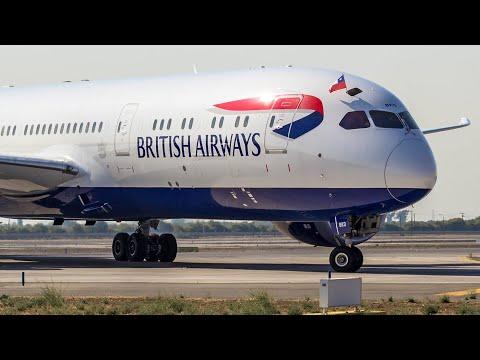 Vuelo inaugural de British Airways a Santiago de Chile + Cabin Tour (Boeing 787-9 Dreamliner G-ZBKD)