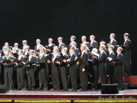 【Strawberry Alice】Shanghai World Expo 2010: Swedish male-voice choir Orphei Drängar, 18/10/2010.