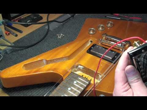 Epiphone Explorer Korina 1958 - EMG Installation + Demo - YouTube  YouTube
