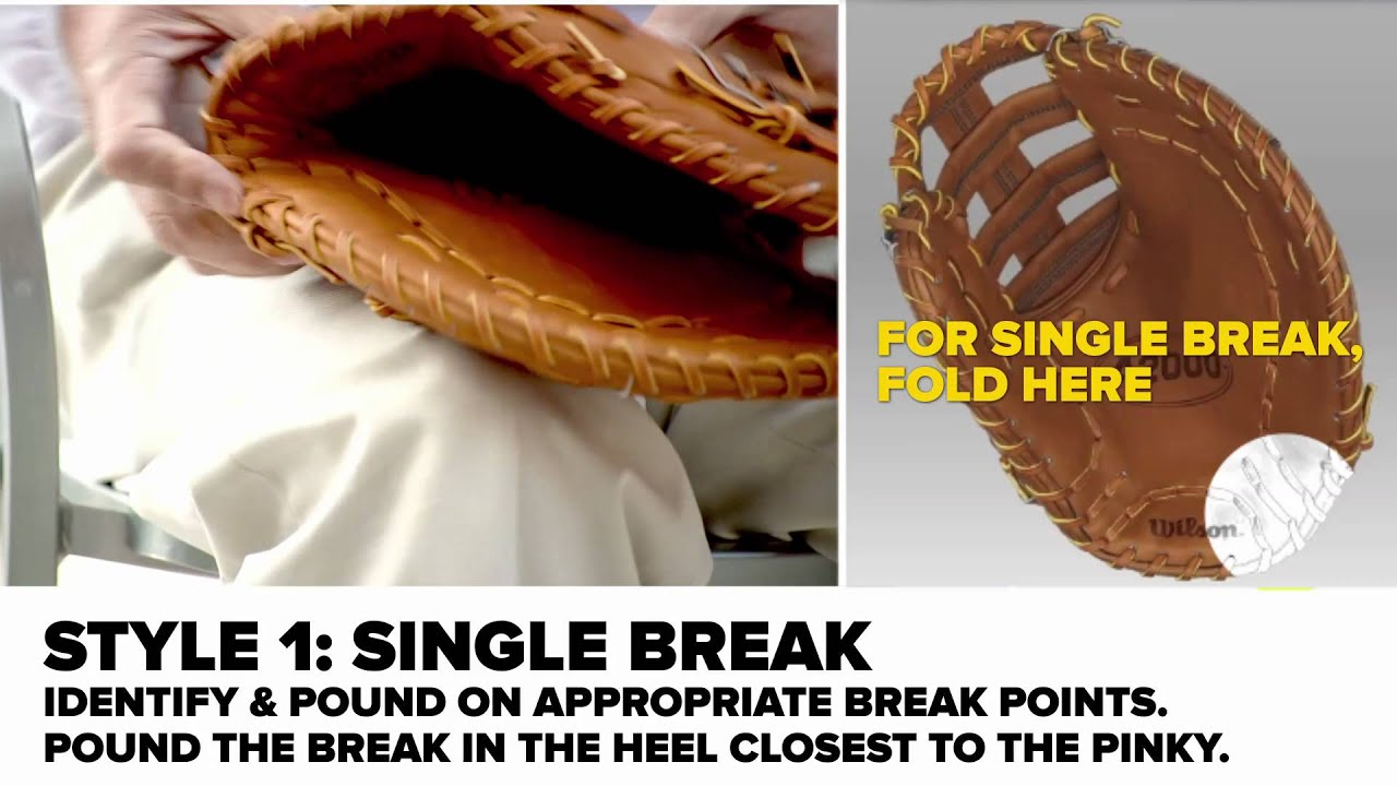 the different methods of breaking in a baseball glove