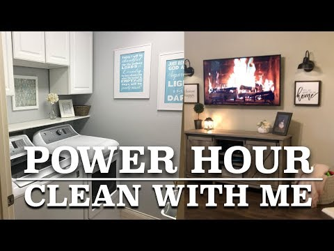 POWER HOUR | CLEAN WITH ME | Getting Stuff Done | Amazing Laundry Product for Smells thumbnail