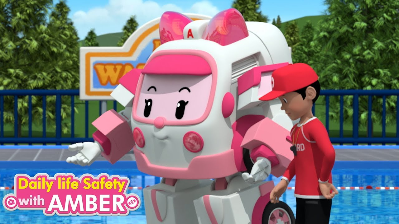 Summer Safety Tips | 4 eps | Daily Life Safety with Amber | Cartoon for Children | Robocar POLI TV
