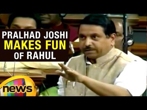Pralhad Joshi Speech In Lok Sabha | Makes Fun Of Rahul Gandhi's Fair And Lovely Speech | Mango News