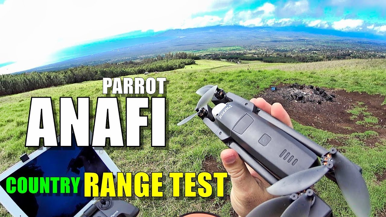 Parrot ANAFI Range Test in Country - How far will it go? [No Interference]