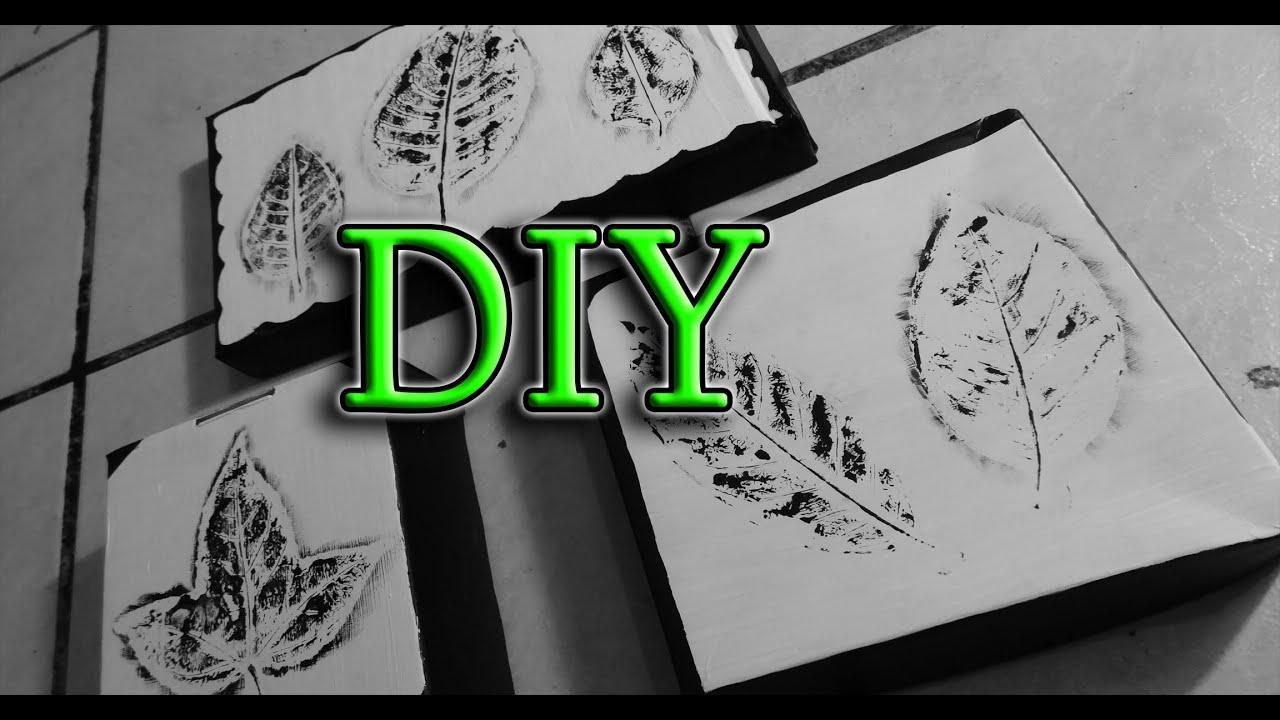 Diy cuadros decorativos con hojas de rbol reciclando - Cuadros con fotos originales ...