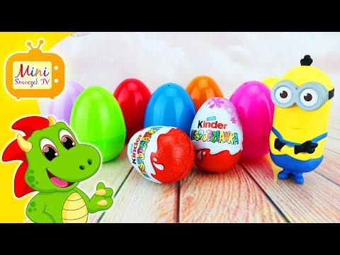 Gru Dru i Minionki! Minion Kevin Otwiera Jajka Niespodzianki Zabawki Filmik Dla Dzieci Po Polsku