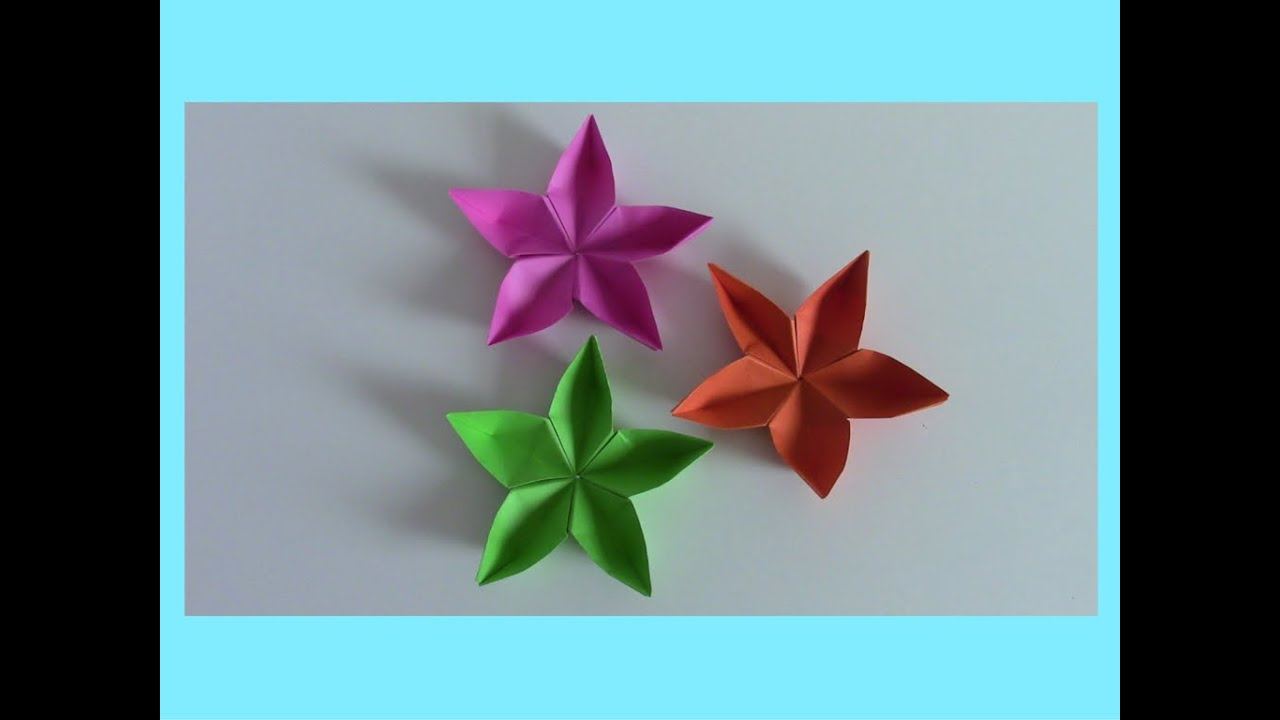 Youtube Fiori Di Carta.Fiori Di Carta Origami Tutorial Veloce Mami Crea Youtube