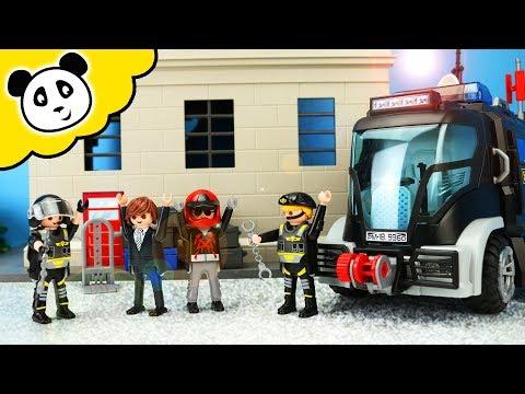 Playmobil Polizei Sek Einsatz Im Verbrecher Hauptquartier