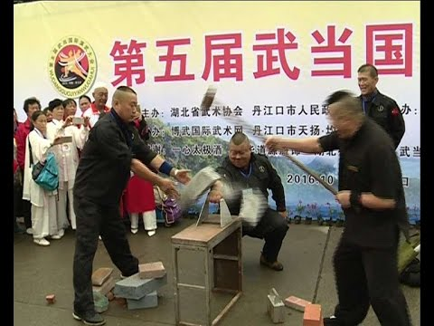 "Kung fu masters show ""iron palm"" stunts in C China"