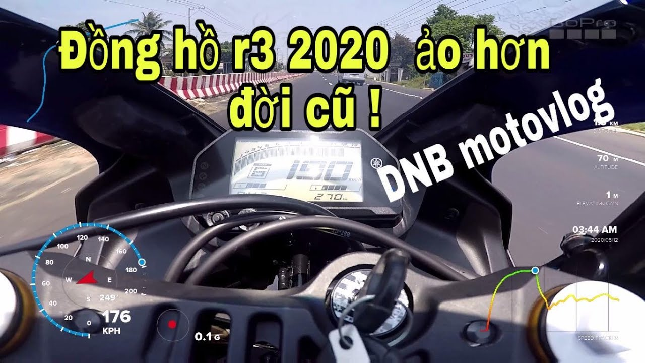 R3 2020 Top Speed GPS ! Đồng Hồ Ảo Hơn Đời Cũ...