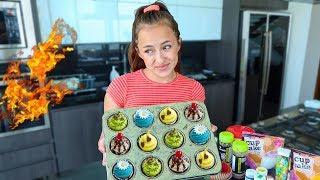 Intente cocinar cupcakes sin ver