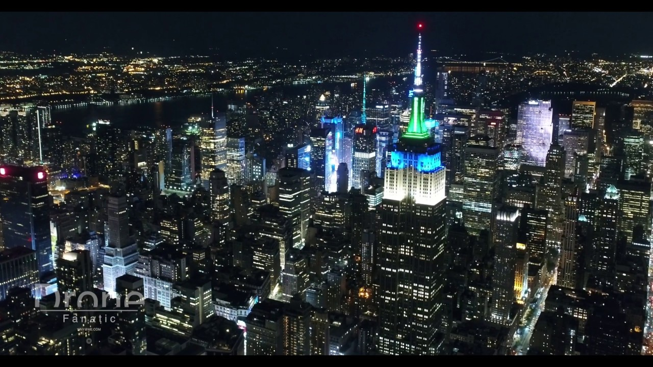 New York City Night 4k Drone Youtube