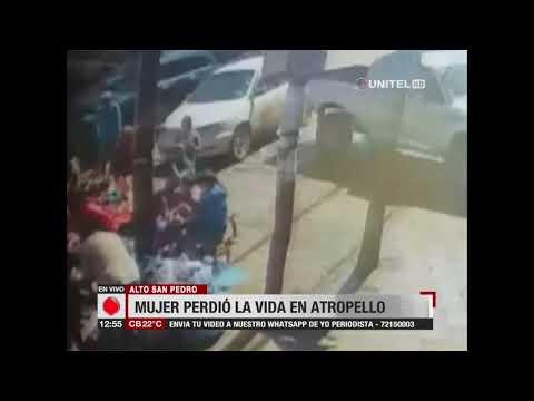 Cámara de seguridad registró cuando vehículo arrolló a personas en Alto San Pedro