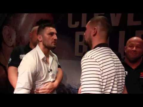 NATHAN CLEVERLY v TONY BELLEW INTENSE @ HEAD TO HEAD @ PRESS CONFERENCE / REPEAT OR REVENGE