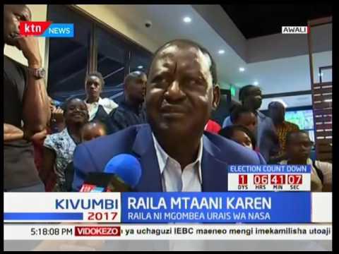 Kipenga cha Uchaguzi : Raila Odinga atangamana na wenyeji wa Karen