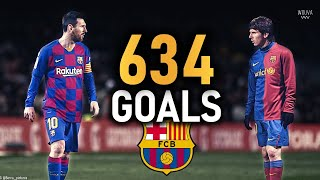 Lionel Messi - All 634 Goals for Barcelona (2004-2020) | HD