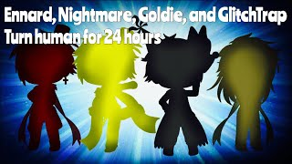 Ennard, Nightmare, Goldie, And GlitchTrap Turn Human For 24 Hours! / FNAF