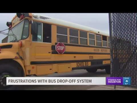 HISD parents frustrated with new bus drop-off system