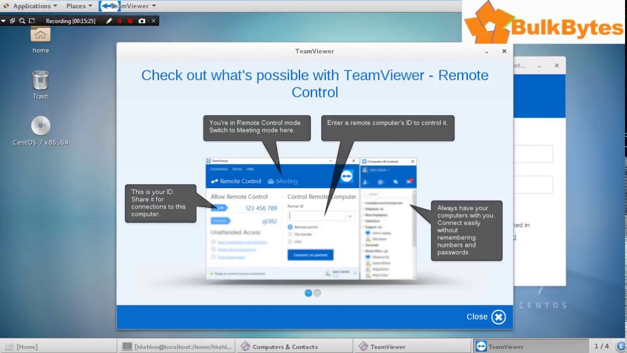 install teamviewer 10 centos 7