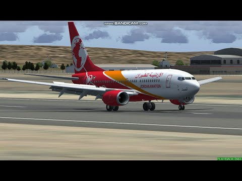 Jordan Aviation  B737  Amman Queen Alia International Airport  OJAI  Landing  FS9