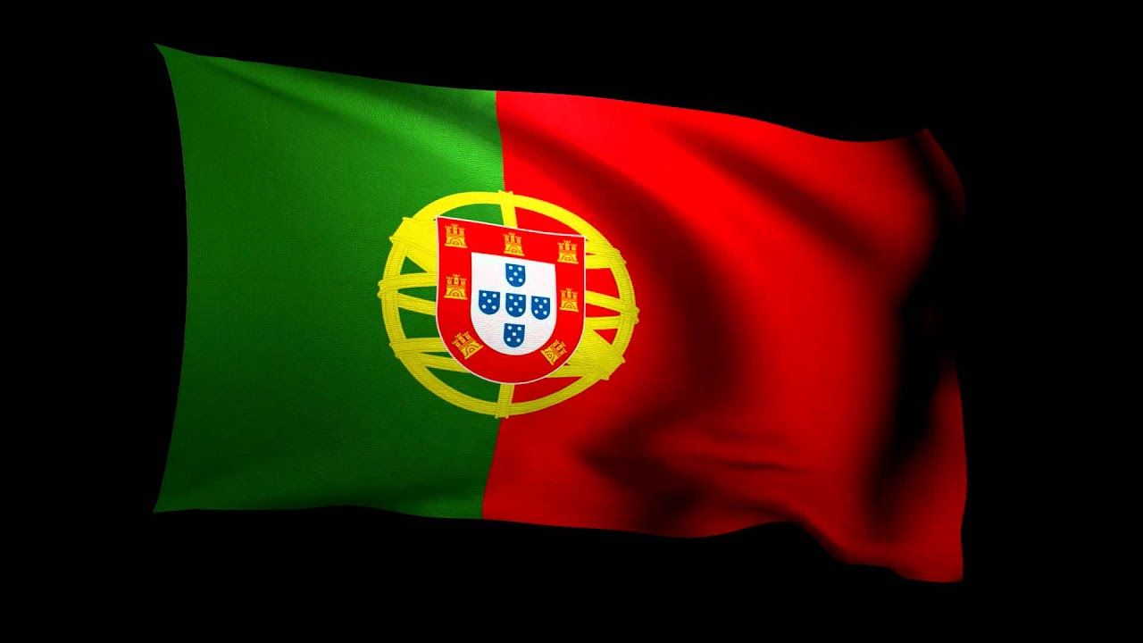 3d Rendering Of The Flag Of Portugal Waving In The Wind Youtube