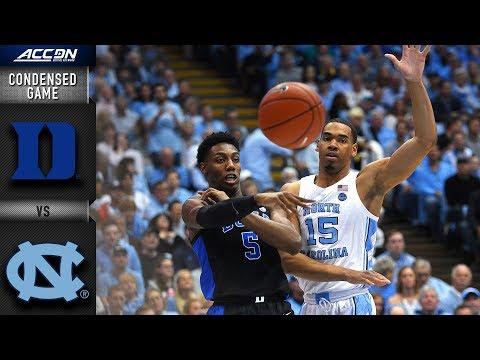 Duke Vs. North Carolina Condensed Game   2018-19 ACC Basketball