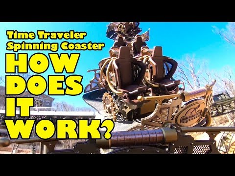 Time Traveler Roller Coaster   How the Spinning Works! Silver Dollar City Theme Park Branson MO